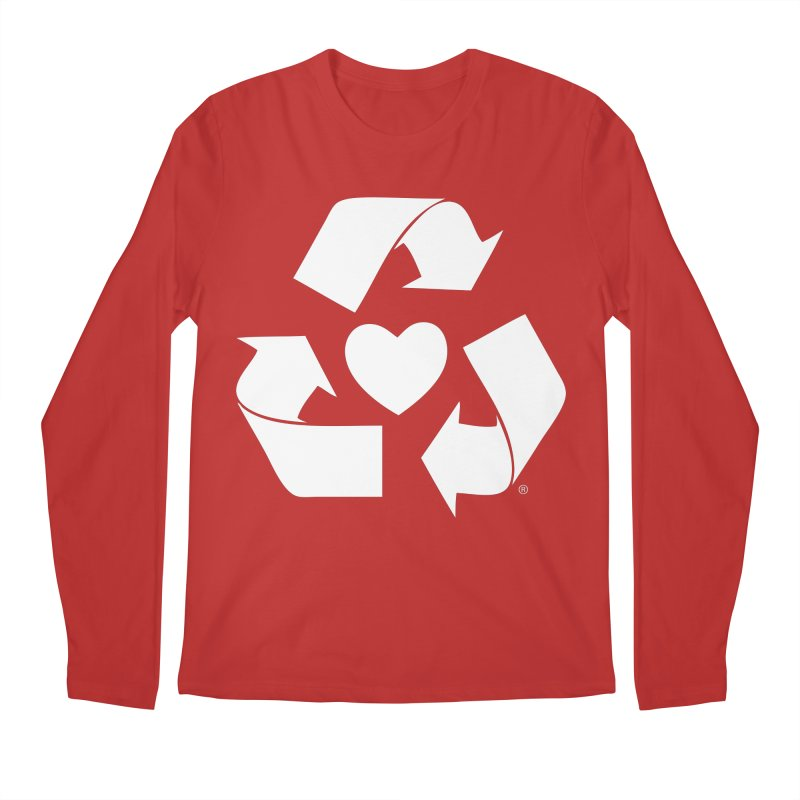 Recycle Heart Men's Regular Longsleeve T-Shirt by mixtapecomics's Artist Shop