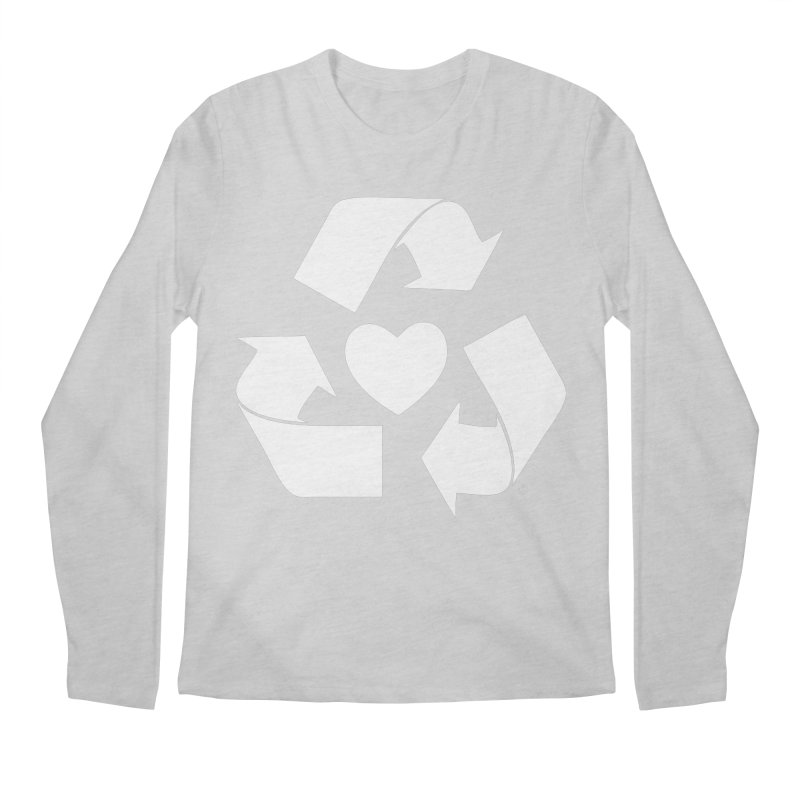 Recycle Heart Men's Longsleeve T-Shirt by mixtapecomics's Artist Shop
