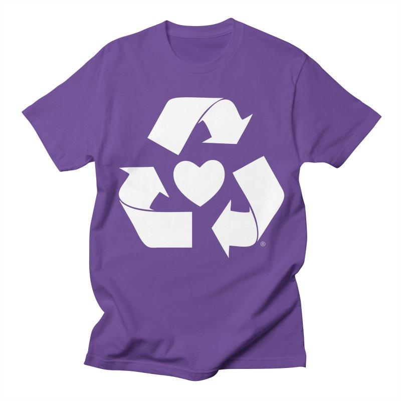 Recycle Heart Men's Regular T-Shirt by Mixtape Comics