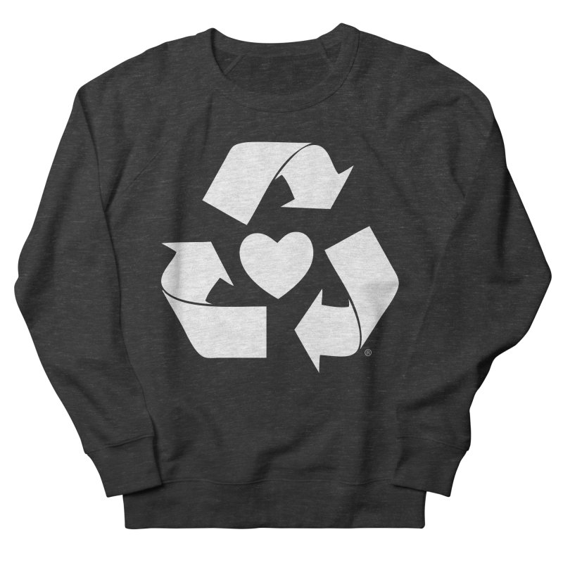 Recycle Heart Women's French Terry Sweatshirt by Mixtape Comics