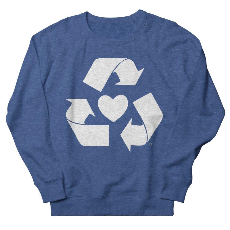 Recycle Heart Women's French Terry Sweatshirt by mixtapecomics's Artist Shop
