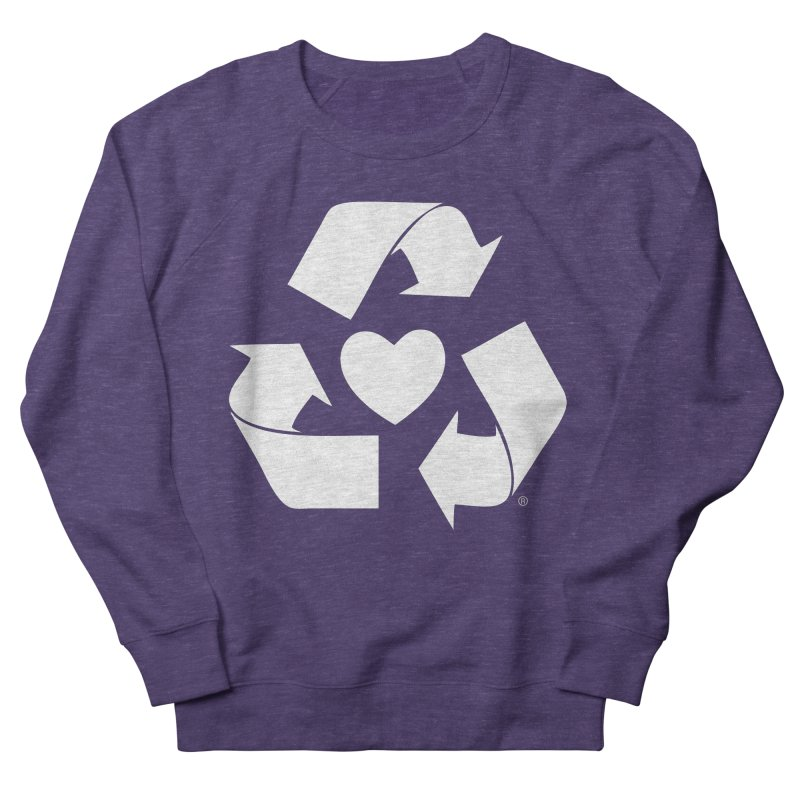Recycle Heart Women's French Terry Sweatshirt by mixtapecomics's Artist Shop
