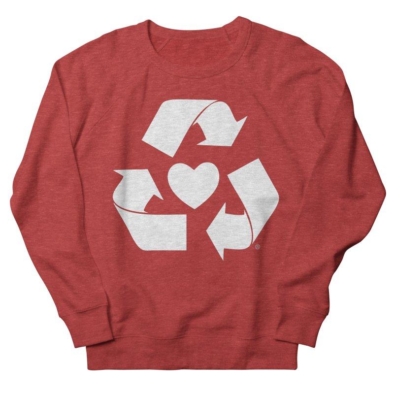 Recycle Heart Men's French Terry Sweatshirt by Mixtape Comics