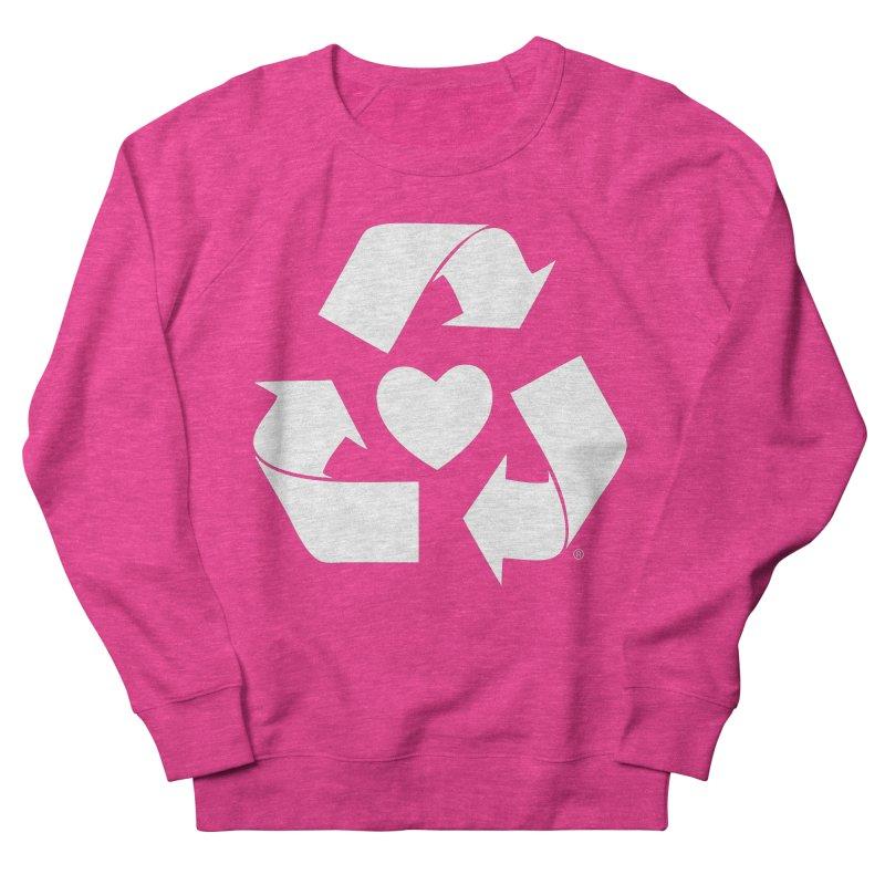 Recycle Heart Men's French Terry Sweatshirt by Mixtape Comics