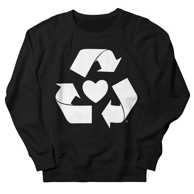 Recycle Heart Men's French Terry Sweatshirt by mixtapecomics's Artist Shop