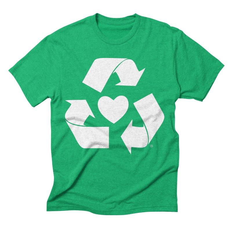 Recycle Heart Men's Triblend T-Shirt by Mixtape Comics