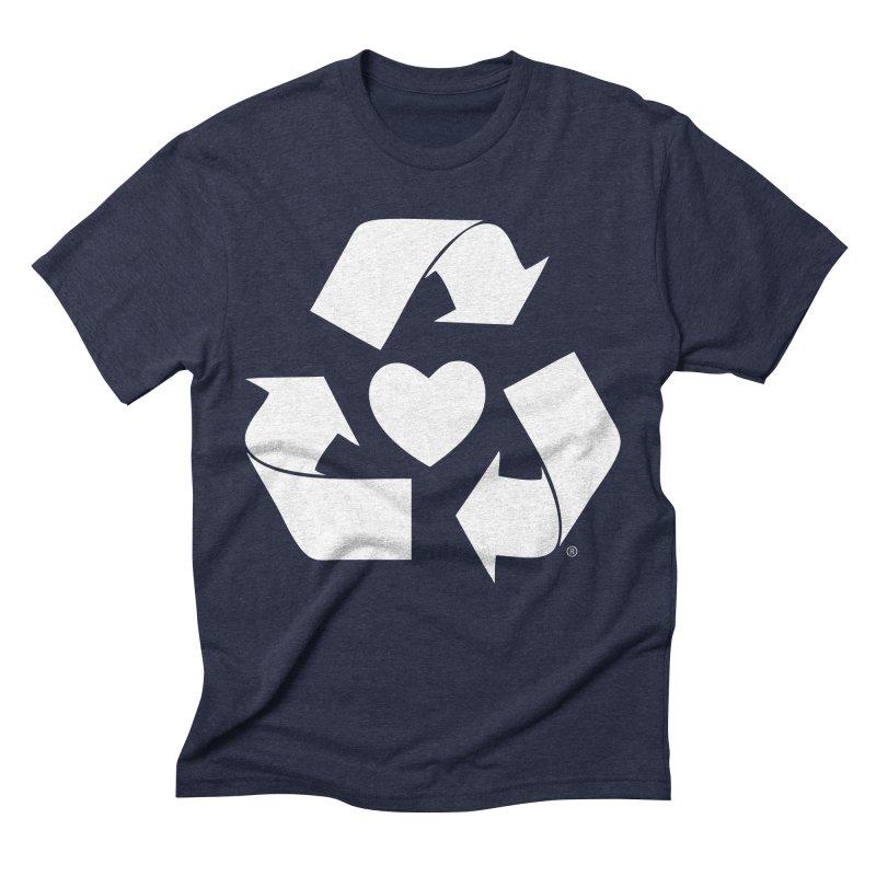 Recycle Heart Men's Triblend T-Shirt by mixtapecomics's Artist Shop