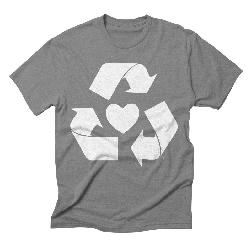 Recycle Heart Men's Triblend T-Shirt by mixtapecomics's Artist Shop