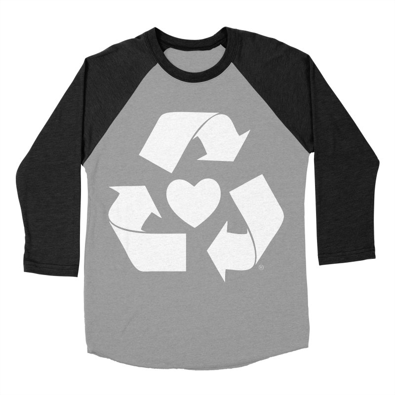 Recycle Heart Women's Baseball Triblend Longsleeve T-Shirt by mixtapecomics's Artist Shop