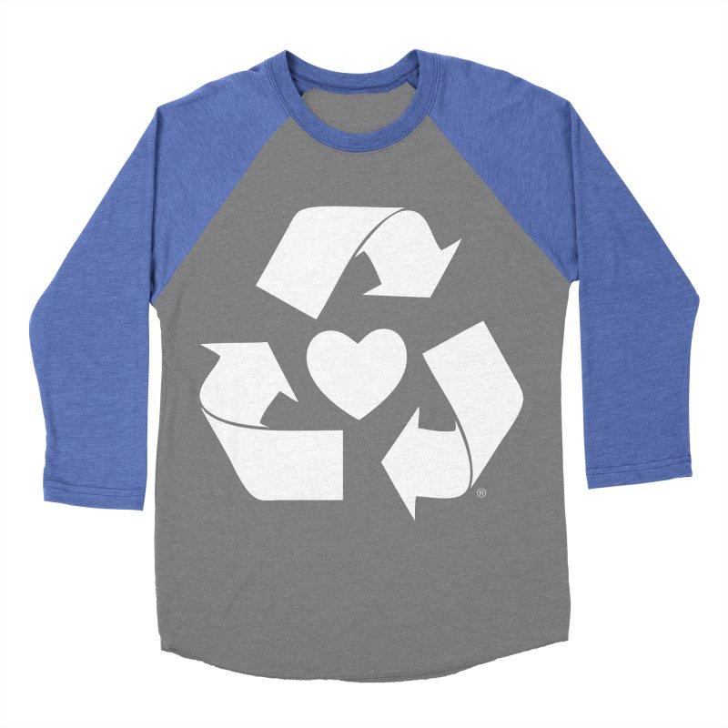 Recycle Heart Men's Baseball Triblend Longsleeve T-Shirt by Mixtape Comics