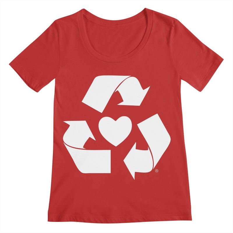 Recycle Heart Women's Regular Scoop Neck by Mixtape Comics