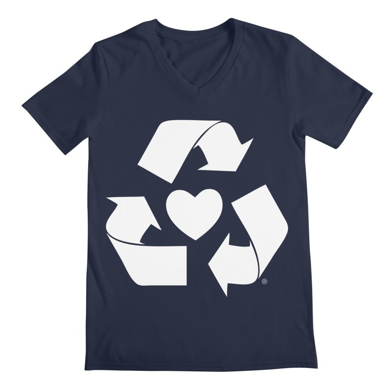 Recycle Heart Men's Regular V-Neck by Mixtape Comics