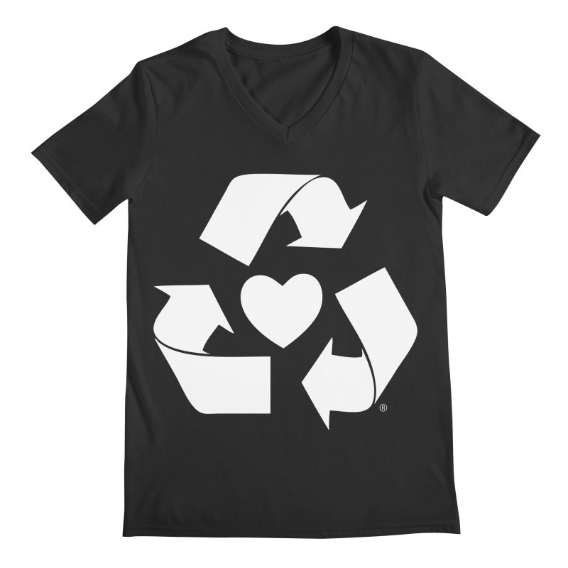 Recycle Heart Men's V-Neck by mixtapecomics's Artist Shop