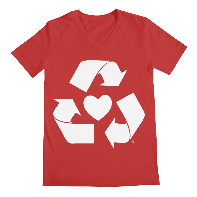 Recycle Heart Men's Regular V-Neck by mixtapecomics's Artist Shop