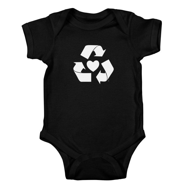 Recycle Heart Kids Baby Bodysuit by Mixtape Comics