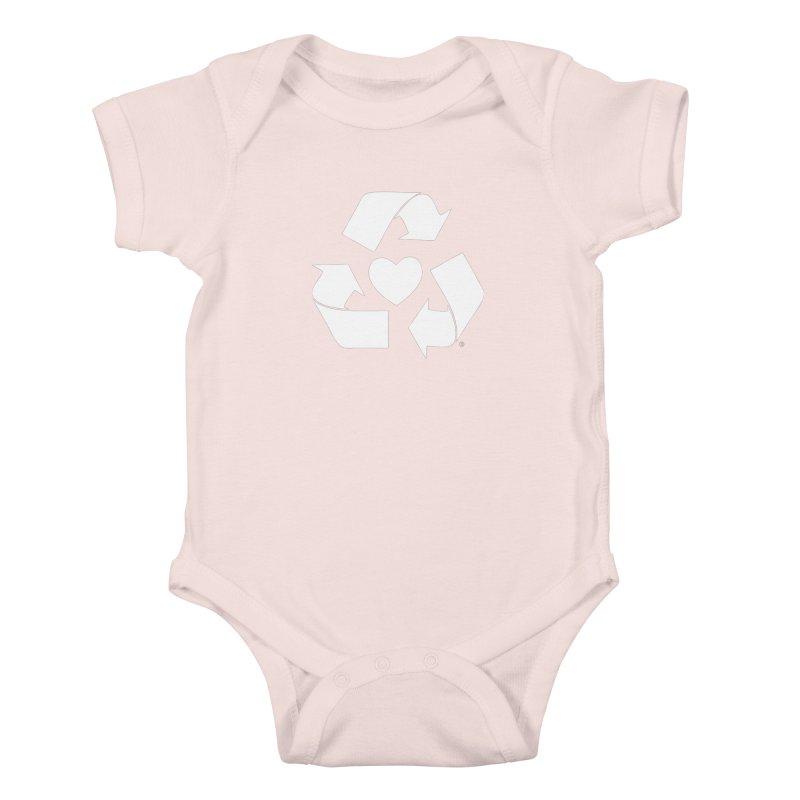 Recycle Heart Kids Baby Bodysuit by mixtapecomics's Artist Shop