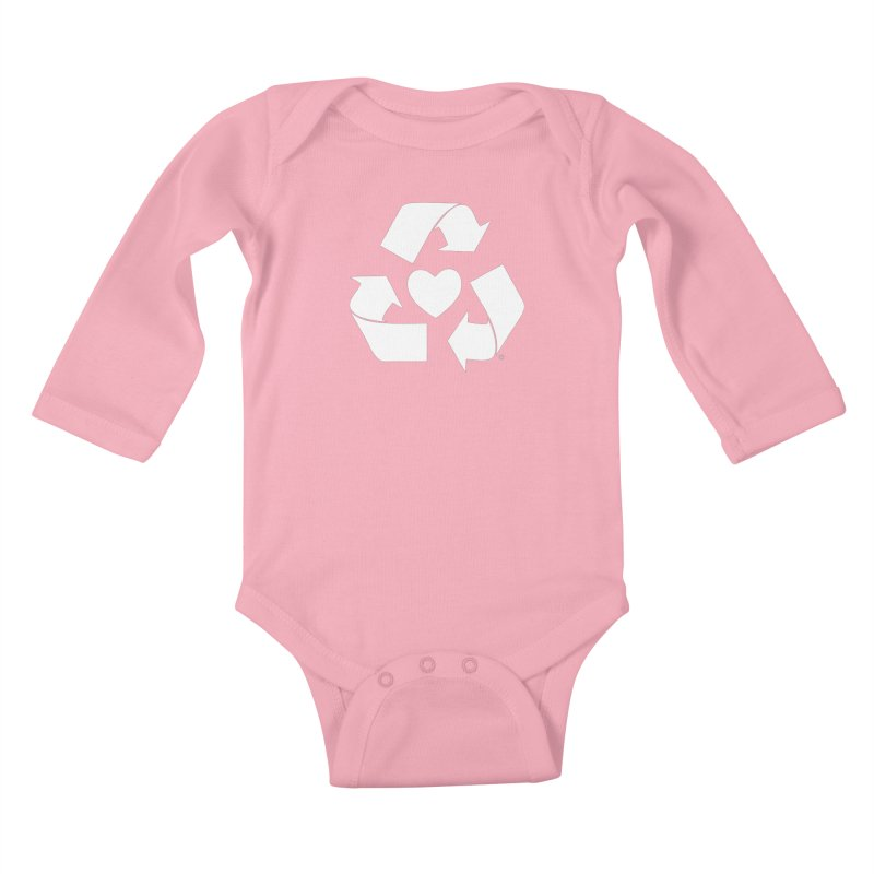 Recycle Heart Kids Baby Longsleeve Bodysuit by Mixtape Comics