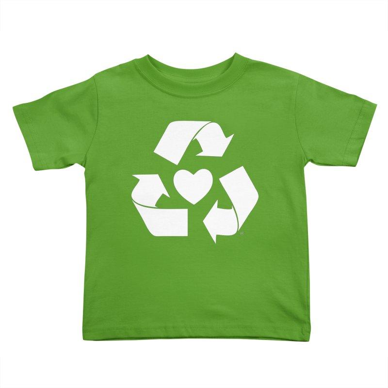 Recycle Heart Kids Toddler T-Shirt by Mixtape Comics