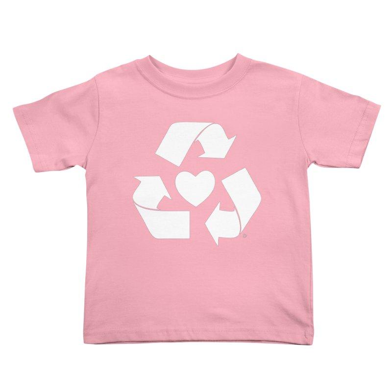 Recycle Heart Kids Toddler T-Shirt by mixtapecomics's Artist Shop