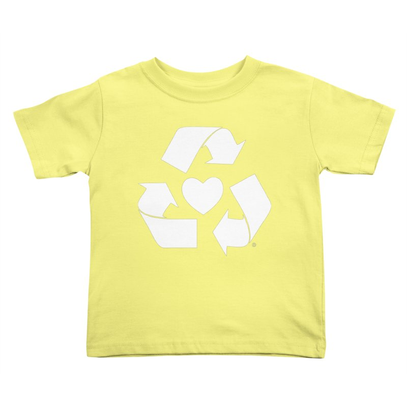 Recycle Heart Kids Toddler T-Shirt by Mixtape Comics