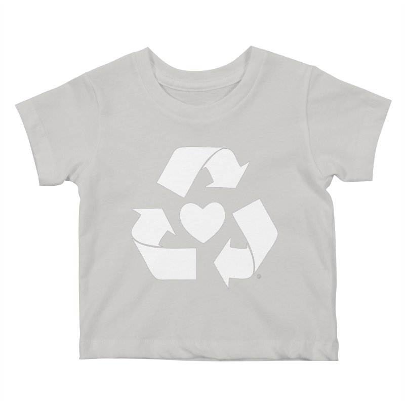 Recycle Heart Kids Baby T-Shirt by mixtapecomics's Artist Shop