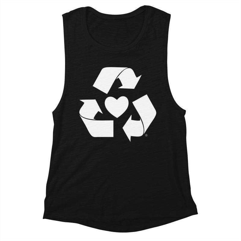 Recycle Heart Women's Tank by Mixtape Comics