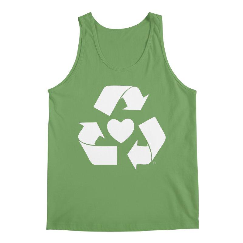 Recycle Heart Men's Tank by Mixtape Comics