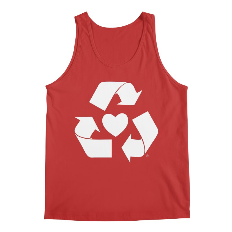 Recycle Heart Men's Regular Tank by Mixtape Comics