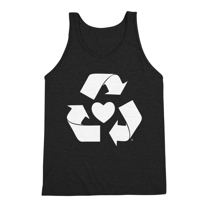 Recycle Heart Men's Triblend Tank by Mixtape Comics