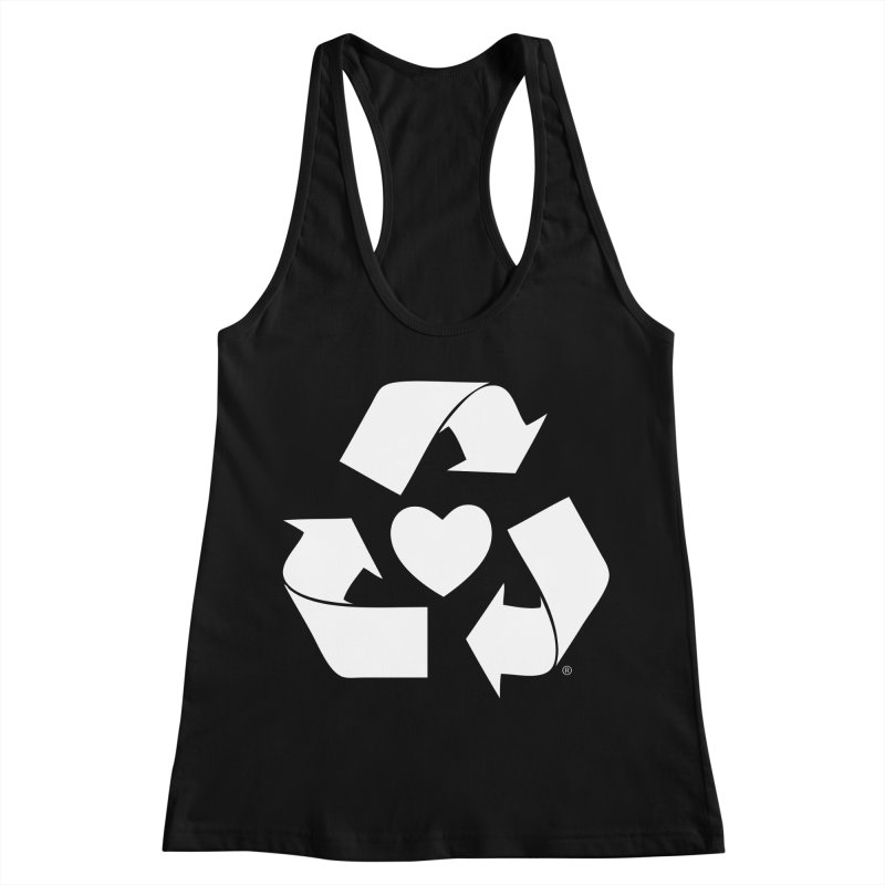 Recycle Heart Women's Racerback Tank by Mixtape Comics