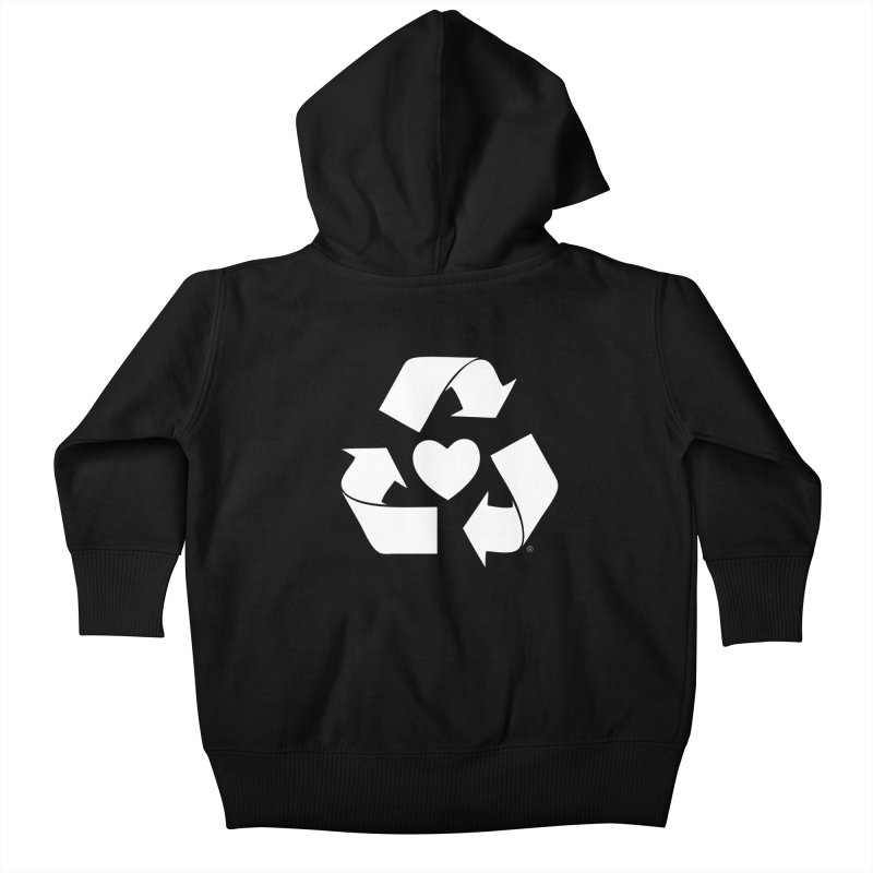 Recycle Heart Kids Baby Zip-Up Hoody by mixtapecomics's Artist Shop