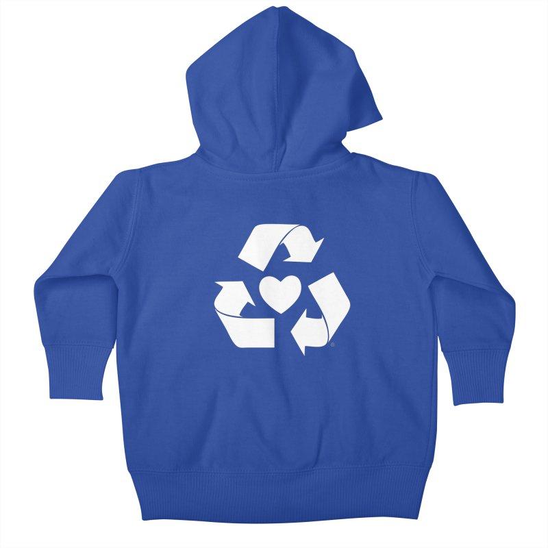 Recycle Heart Kids Baby Zip-Up Hoody by mixtapecomics's Artist Shop