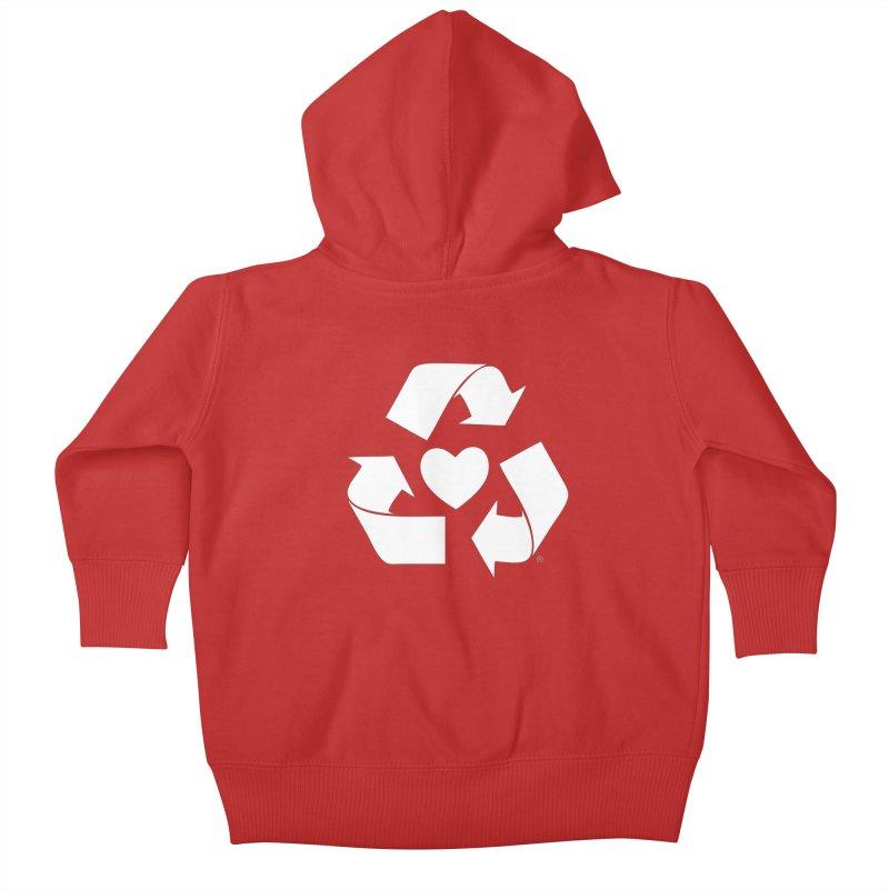 Recycle Heart Kids Baby Zip-Up Hoody by Mixtape Comics