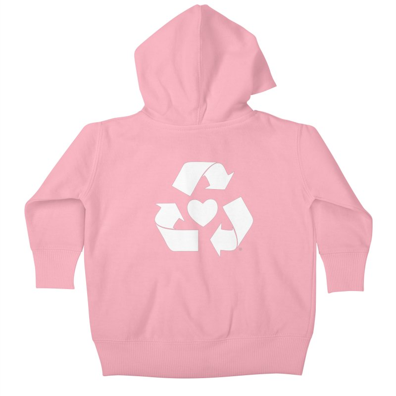 Recycle Heart Kids Baby Zip-Up Hoody by Mixtape Comics