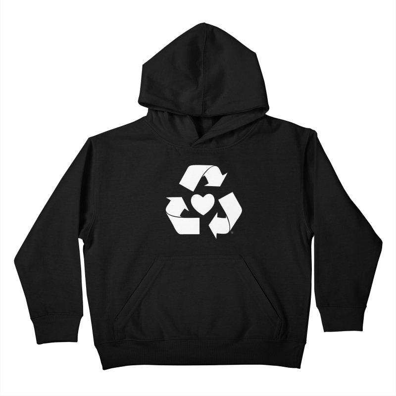Recycle Heart Kids Pullover Hoody by mixtapecomics's Artist Shop