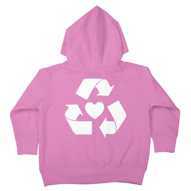 Recycle Heart Kids Toddler Zip-Up Hoody by Mixtape Comics