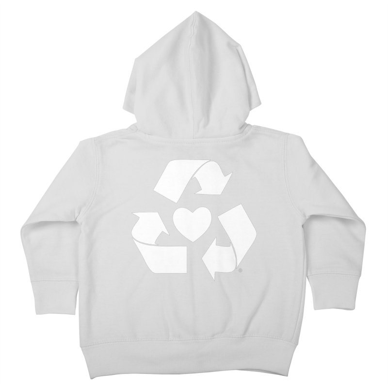 Recycle Heart Kids Toddler Zip-Up Hoody by Mixtape Comics