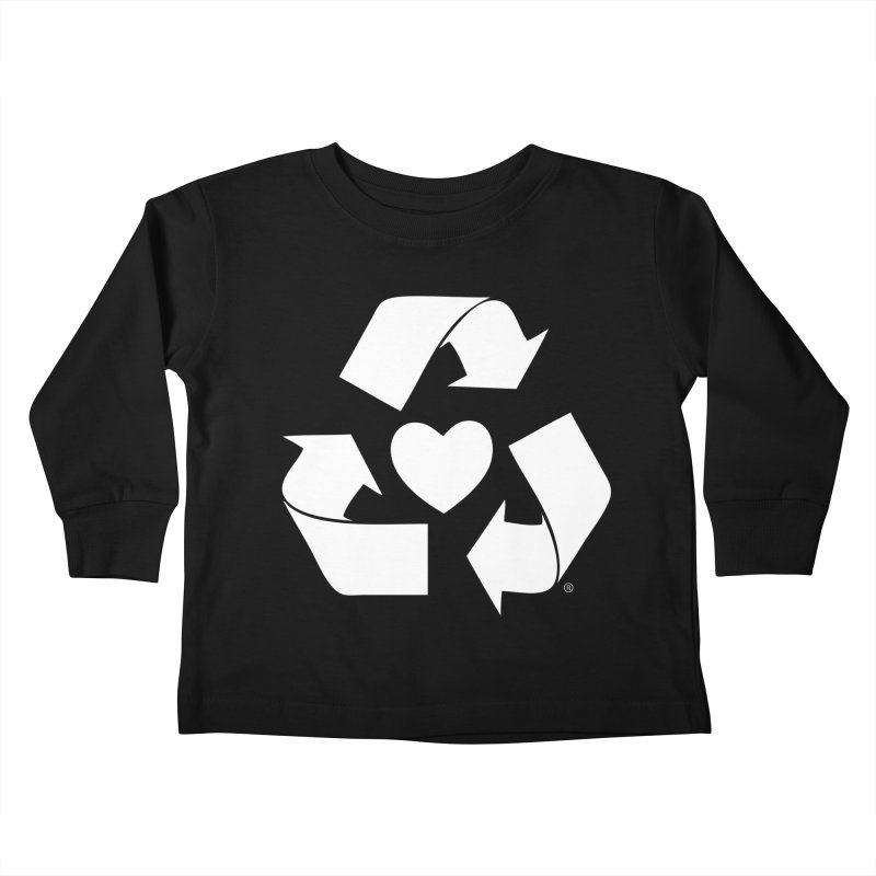 Recycle Heart Kids Toddler Longsleeve T-Shirt by mixtapecomics's Artist Shop