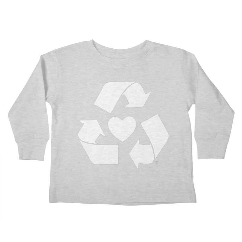 Recycle Heart Kids Toddler Longsleeve T-Shirt by Mixtape Comics