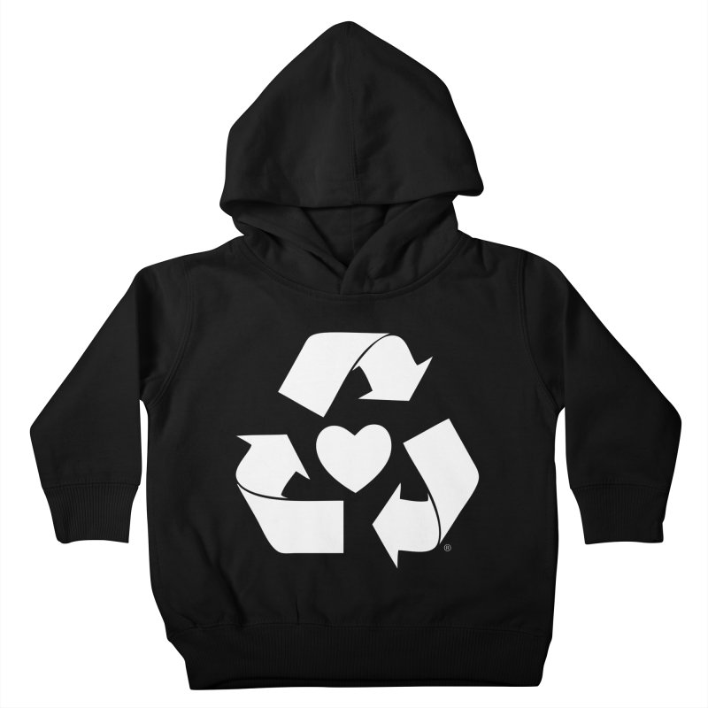 Recycle Heart Kids Toddler Pullover Hoody by mixtapecomics's Artist Shop
