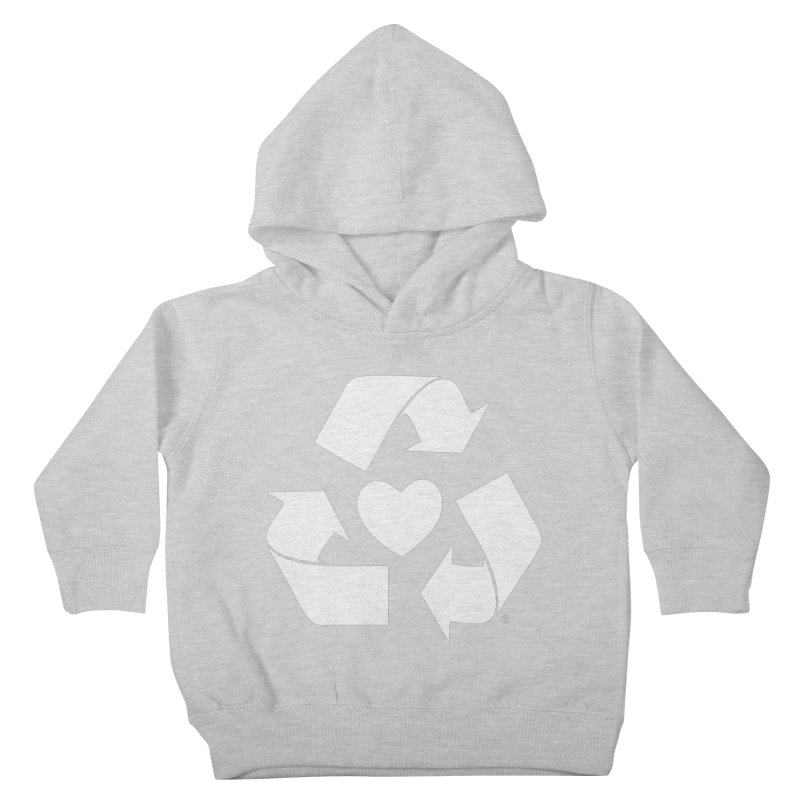 Recycle Heart Kids Toddler Pullover Hoody by Mixtape Comics