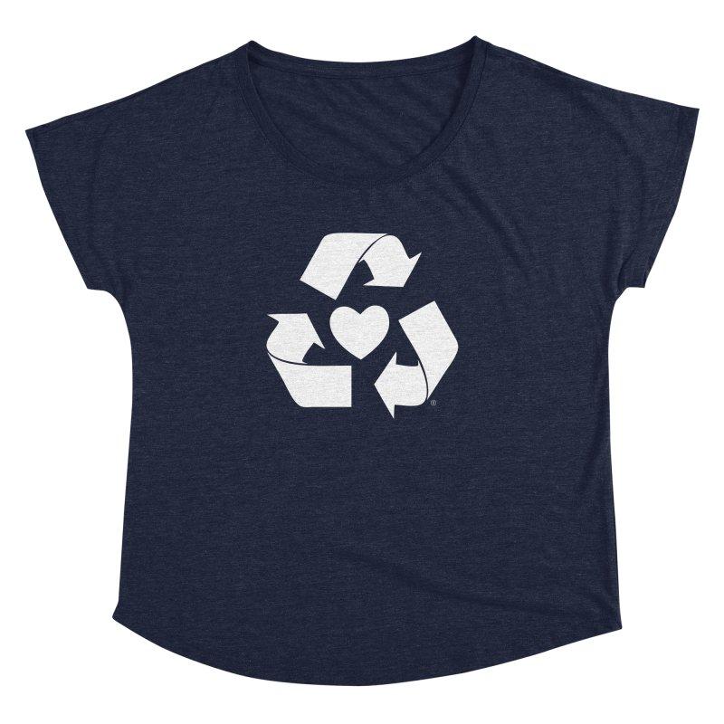 Recycle Heart Women's Dolman Scoop Neck by Mixtape Comics
