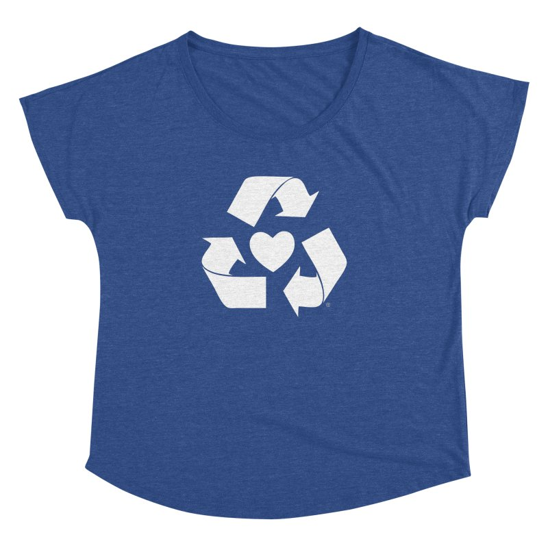 Recycle Heart Women's Dolman Scoop Neck by Mixtape Comics