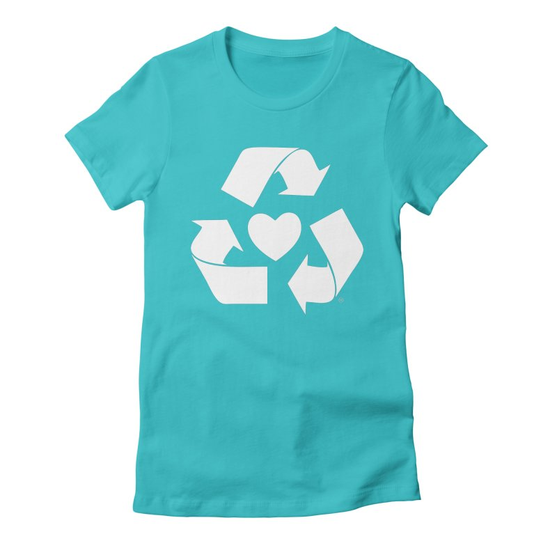 Recycle Heart Women's Fitted T-Shirt by Mixtape Comics