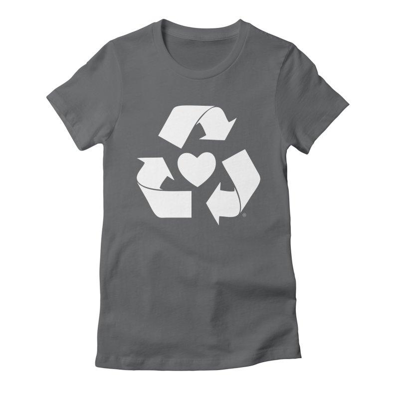Recycle Heart Women's Fitted T-Shirt by mixtapecomics's Artist Shop