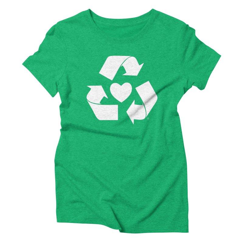 Recycle Heart Women's Triblend T-Shirt by Mixtape Comics