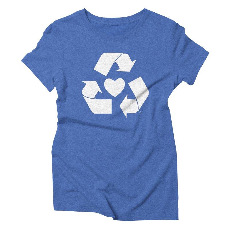 Recycle Heart Women's Triblend T-Shirt by mixtapecomics's Artist Shop