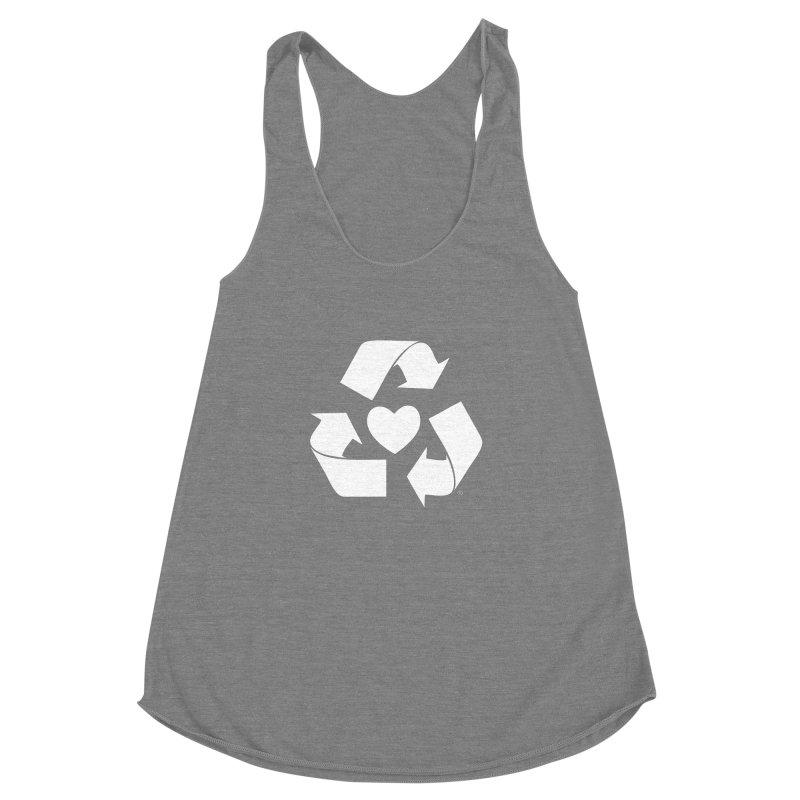 Recycle Heart Women's Racerback Triblend Tank by mixtapecomics's Artist Shop