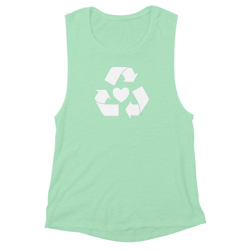 Recycle Heart Women's Muscle Tank by mixtapecomics's Artist Shop