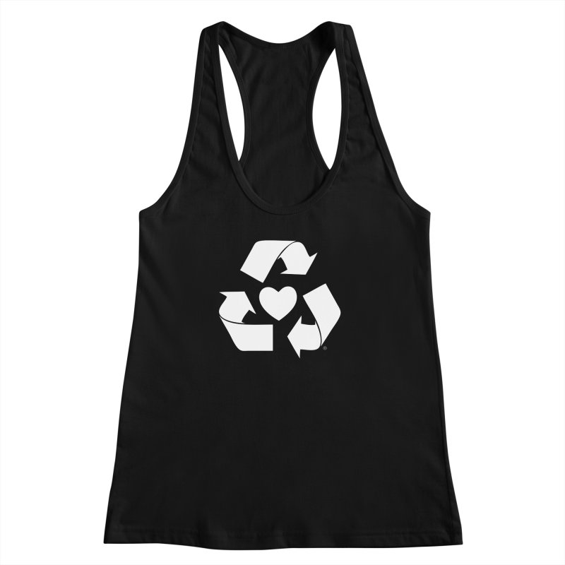 Recycle Heart Women's Racerback Tank by Mixtape Comics